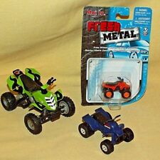 QUAD RUNNER LOT 3 MAISTO FRESH METAL ATV 4 WHEELER SPINMASTER 2000 GREEN ORANGE.