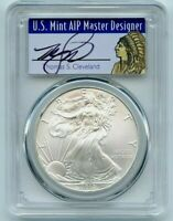 2010 American Silver Eagle $1 PCGS MS70 Thomas Cleveland Native Label