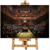 Banksy Monkey Parliament canvas wall art print picture