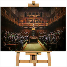 Banksy Monkey Parliament canvas wall art print picture