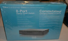 Cisco SG300-08 8 port 10/100/1000 gigabit ethernet switch new SLM2008T-NA