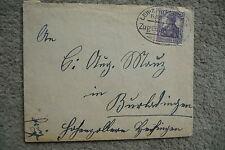 sehr alter Bahnpoststempel Zug 868 Leipzig auf Umschlag,Germania 15 Pfennig lila