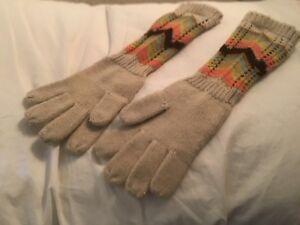 Missoni for Target Girls Children Knitted Gloves White Ivory Brown