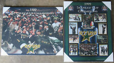 Pair of Dallas Stars 1999 Stanley Cup Championship Picture Plaques
