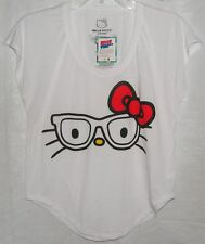 Hello Kitty Tee T-Shirt NERD BLACK GLASSES HOT TOPIC SIZE SMALL NWT