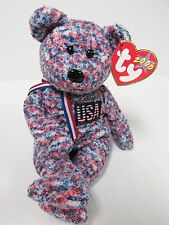 "Ty Beanie Baby ""USA"" the Red, White & Blue Bear, Brand New w/Mint Tags"