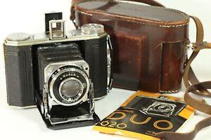 Exc! WWII Germany KODAK DUO 620 Film Camera with Anastigmat ƒ4.5/75mm Lens F058