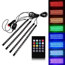 Car 4in1 LED Interior Trim Atmosphere Glow RGB Light Strip Neon Lamp Decoration