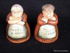 Rare Royal Doulton Salt/Pepper Shakers Votes For Women & Toil For Men