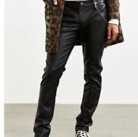 Daang Goodman TRIPP NYC Mens Black Faux Leather Emo Goth Punk Raver Pants Sz 30