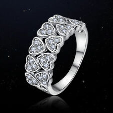Cubic Zirconia White Gold Love & Hearts Fashion Rings