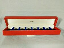 """Vintage Older Red Cartier Earrings or Rings Jewelry Box ?  9 1/2"""" length Empty"""