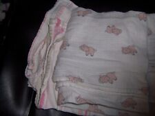 Aiden Anaise pink elephants baby blanket and stripes