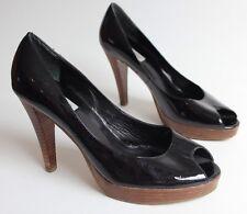 Dune patent leather black heels size 6