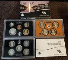 2015-S US Mint SILVER Proof Set OGP & COA (14 coins)