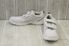 Rockport State O Motion Hook & Loop Walking Shoes, Men's Size 14W, White