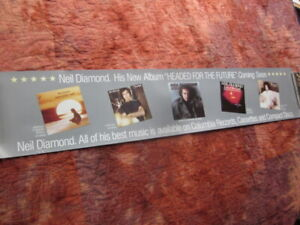 Neil Diamond 1986 Headed For The Future Promo Poster  Richard Bennett  Ron Tutt