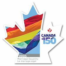 MARRIAGE EQUALITY = CANADA 150 Celebration = Booklet DIE CUT stamp MNH 2017
