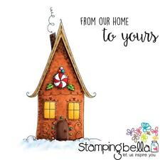 New Stamping Bella Cling Rubber Stamp BELLA'S EXCLUSIVE GINGERBREAD HOUSE SET 2