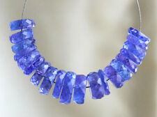Natural Purple Blue Tanzanite Faceted Rondelle Gemstone Beads (023070)
