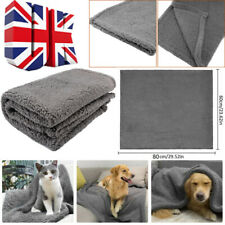 More details for large warm pet mat cat dog puppy fleece soft blanket throw bed cushion grey