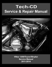 Yamaha V-Star 1300 Service & Repair Manual Tourer Stryker 2011 2012 2013 2014