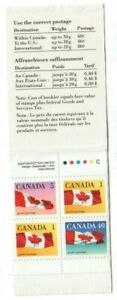 1990 Canada-SC-BK 123 Flag-Booklet of 4-M-NH