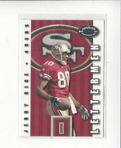 2000 Donruss Preferred Lettermen #LM25 Jerry Rice 49ers /750