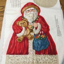 VTG Cranston Santa Father Christmas Pillow Doll Fabric Panel Pattern Cut n Sew