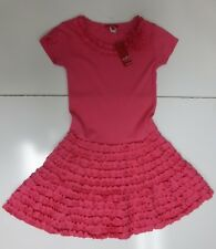 ONE KID Boutique Hot Pink Ruffled Dress Size 8, NEW WITH TAGS