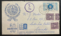 1959 South Africa Postage Due First Day Cover FDC To Landa Lake Canada 50th Year