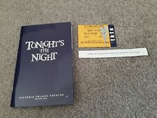 Tonights The Night theatre programme and ticket 2004 Rod Stewart musical