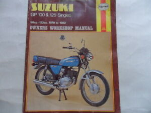 Haynes Owners Workshop Manual Suzuki GP100 125 Singles