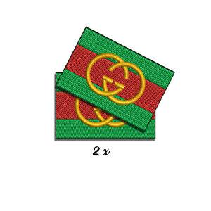 parche estilo GUCCI moda logo cool flag iron patch
