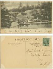 1905 Victoria British Columbia Canada - The Gorge and excursion boat - posted