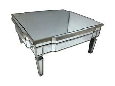 Mirrored Glass Venetian Coffee Table Living Room Furniture Square  End Side