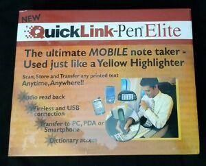 Wizcom Quicklink Pen Elite Handheld Scanner BRAND NEW
