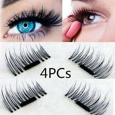 2 Pairs Magnetic Eyelashes 3D Handmade Mink Reusable False Magnet Eye Lashes Set