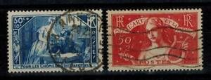 (a25) timbres France n° 307/308 oblitérés année 1935