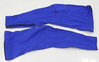 Verge No Logo Fleece Cycling Leg Warmers Royal Blue Small Brand New