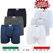 6 Boxer Uomo Taglie Forti Calibrati Conformati 100% Cotone