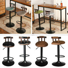 Bar Stool Industrial Retro Kitchen Dining Chair Leather Furniture Adjustable
