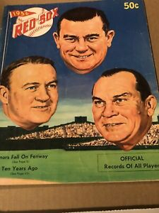 1956 BOSTON RED SOX YEARBOOK TED WILLIAMS JACKIE JENSEN