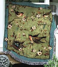 Morning Song Songbirds Birds Tapestry Afghan Throw ~ Artist, Susan Winget