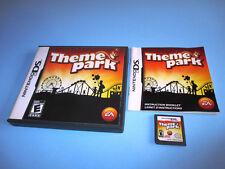Theme Park Nintendo DS Lite DSi XL 3DS 2DS w/Case & Manual