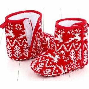 toddler Infant Anti-Slip Christmas boots Warm Slippers Foot Socks baby shoes