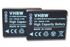 2x Batería para Panasonic Lumix DMC-TZ20/DMC-TZ22/DMC-TZ25