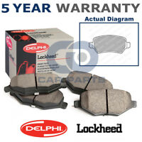 Rear Delphi Lockheed Brake Pads For Vauxhall Opel Astra H Meriva Zafira LP1681
