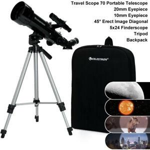 CELESTRON PowerSeeker 70400 Travel Scope 70 Portable Telescope + Tripod #21035