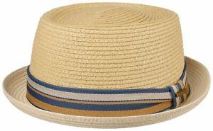 Stetson Sun Guard Summer Toyo Straw Hat Pork Pie Hat Licano 77 Beige Natural New